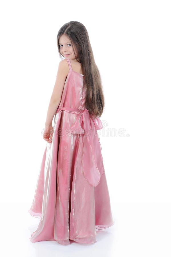 девушка вечера платья немногая стоковые фотографии rf