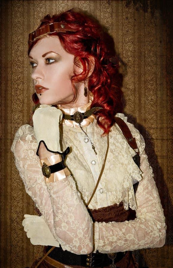 Девушка викторианец Steampunk стоковое изображение