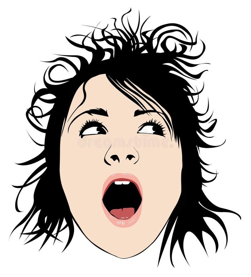 девушка волосатая стоковые фотографии rf