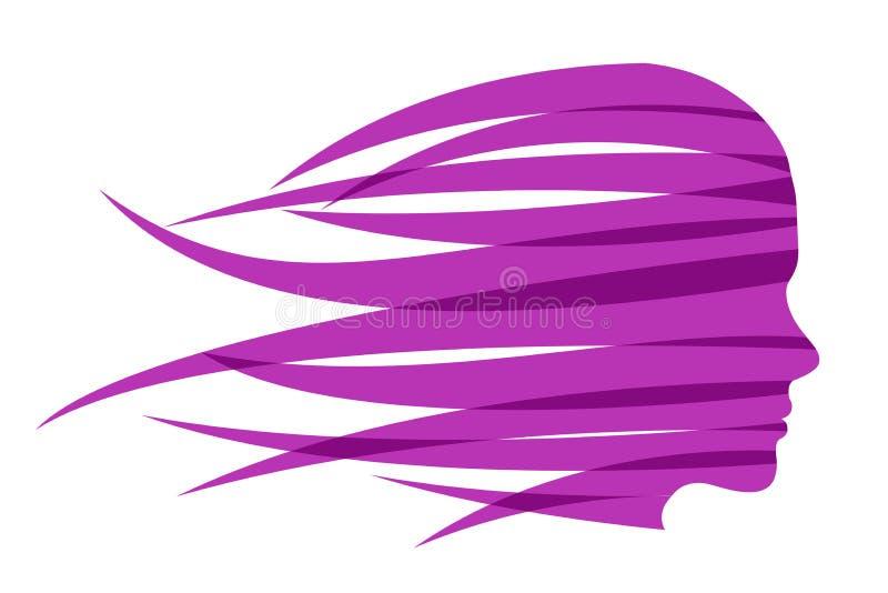 Девушка волос голодает в ветре бесплатная иллюстрация