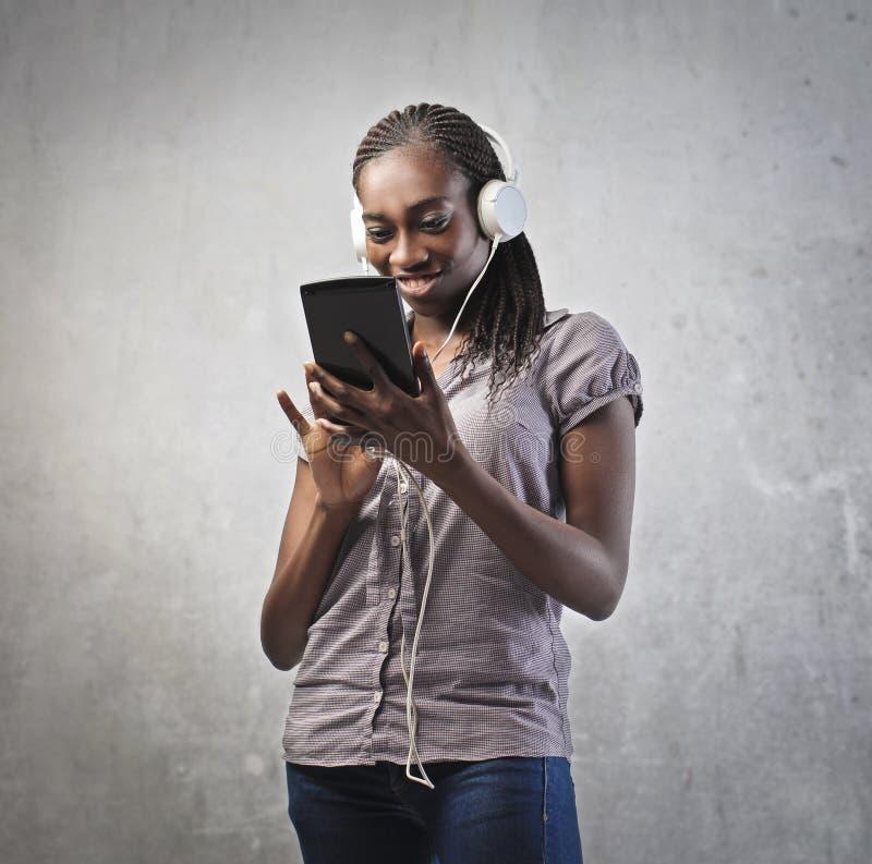 девушка высокотехнологичная стоковые фотографии rf