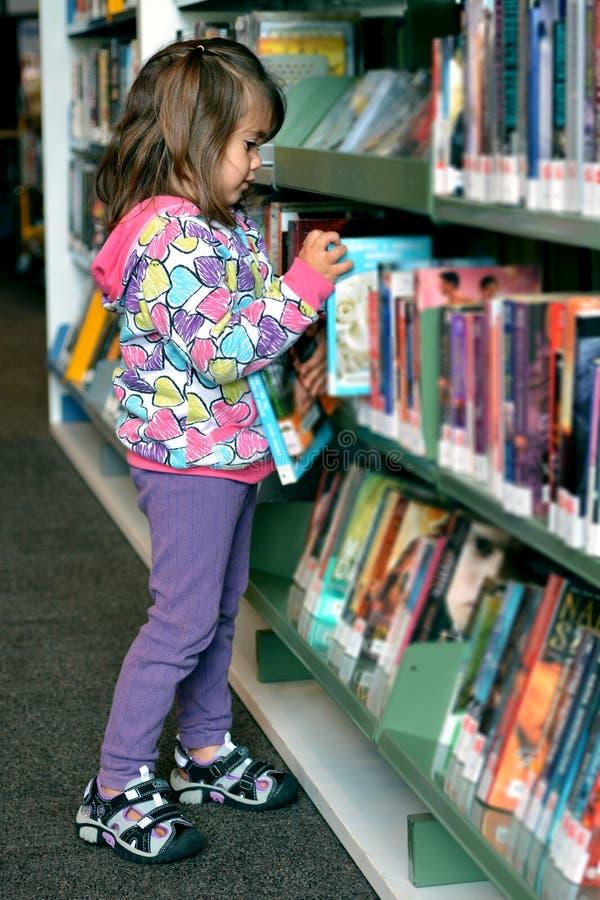 Девушка в библиотеке стоковые изображения