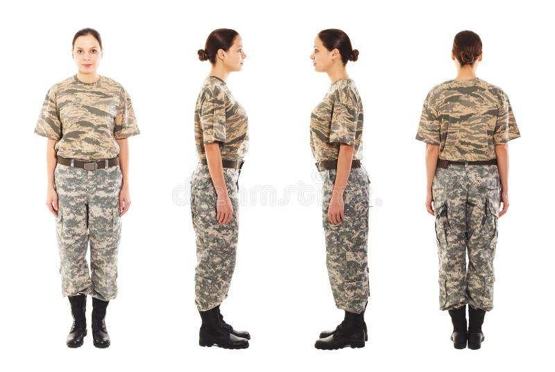 Девушка в военной форме стоковые фотографии rf