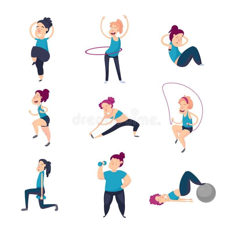 Девушка в гимнастике иллюстрация вектора