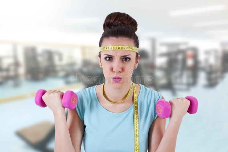 Девушка в гимнастике стоковые фото