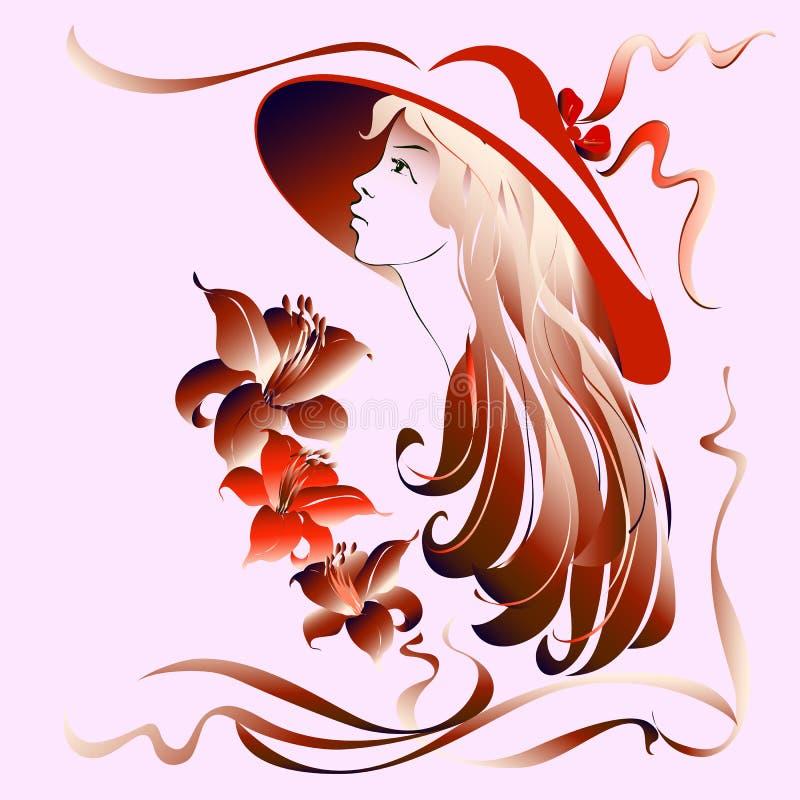 Девушка в красном шлеме стоковая фотография rf