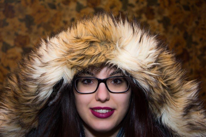 Девушка в клобуке стоковая фотография rf