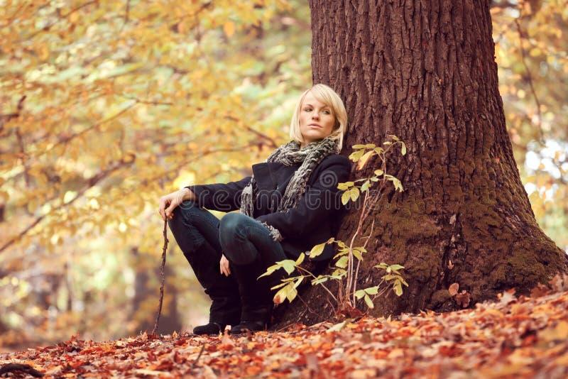 Download Девушка в парке стоковое фото. изображение насчитывающей персона - 33729980