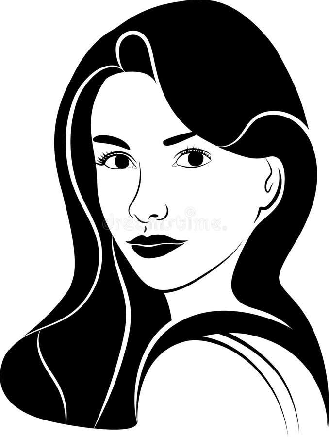 Девушка в половинном повороте стоковая фотография