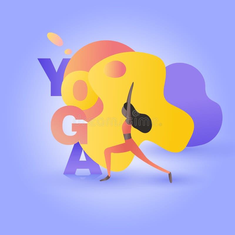 Девушка в представлении йоги бесплатная иллюстрация
