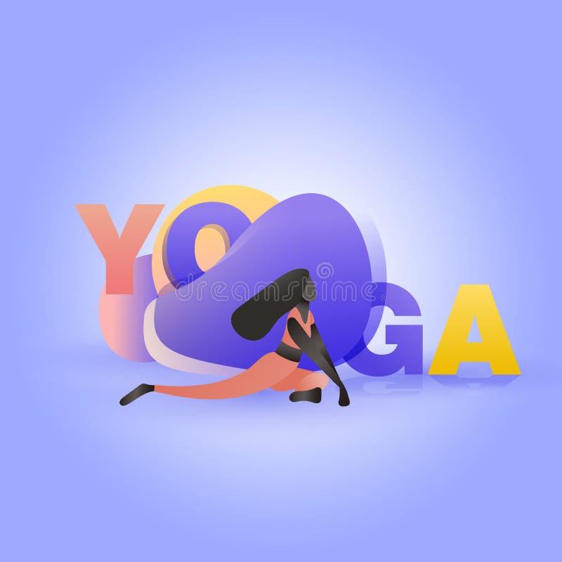 Девушка в представлении йоги иллюстрация штока