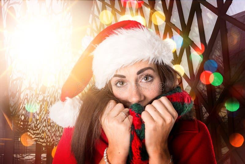 Девушка в рождестве стоковое изображение