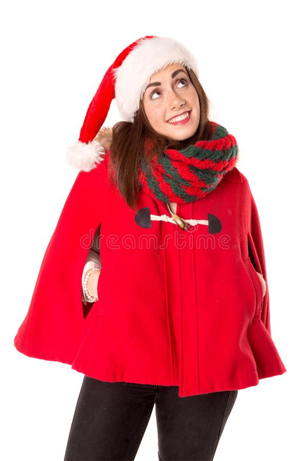 Девушка в рождестве стоковое изображение rf