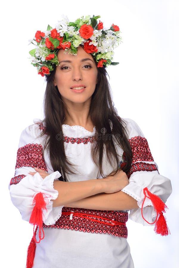 Девушка в украинском костюме стоковые изображения