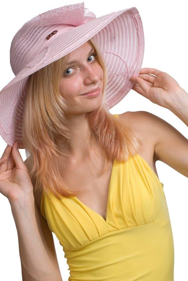 Девушка в шлеме стоковые фотографии rf