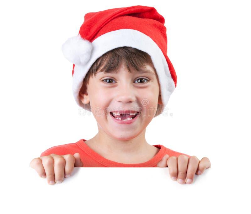 Девушка в шлеме Santa Claus стоковое изображение rf