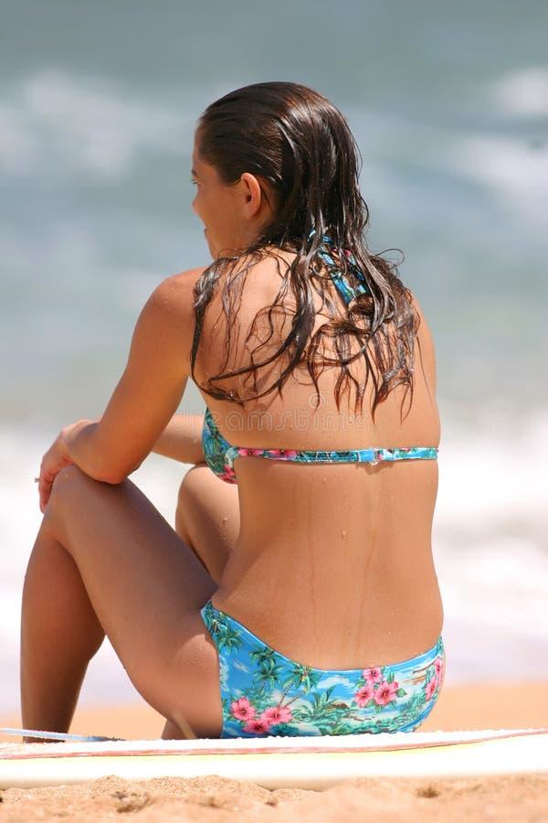 девушка Гавайские островы пляжа