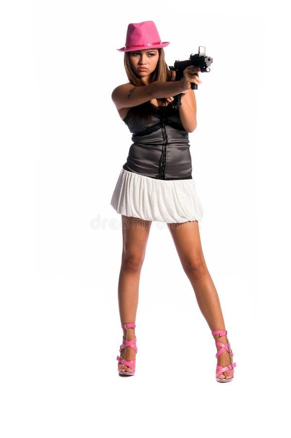 девушка гангстера сексуальная стоковое изображение rf