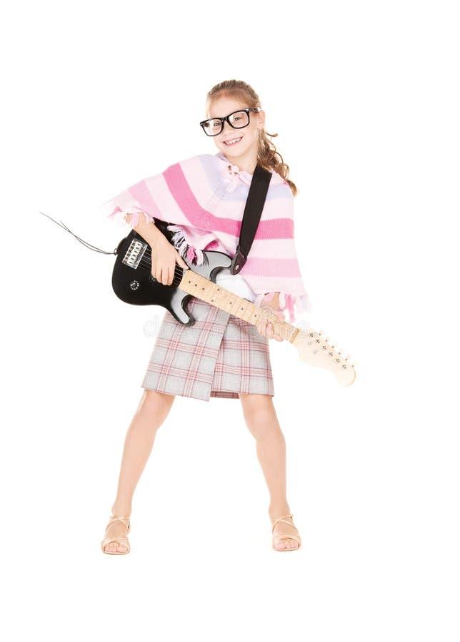 Девушка гитары стоковые фотографии rf