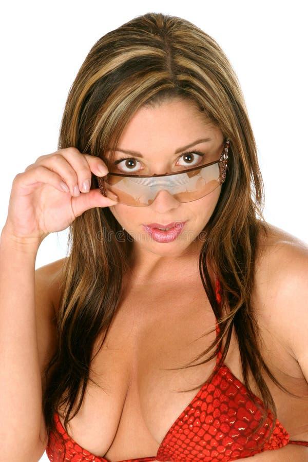 Download девушка глаза бикини к стоковое фото. изображение насчитывающей очарование - 480260