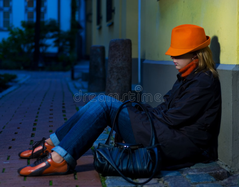 девушка города старая стоковое изображение rf