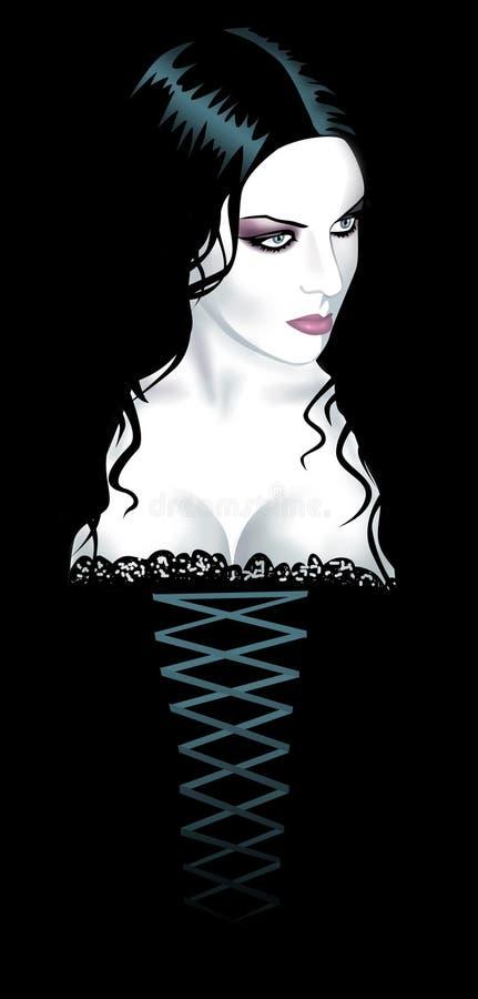 девушка готская иллюстрация штока