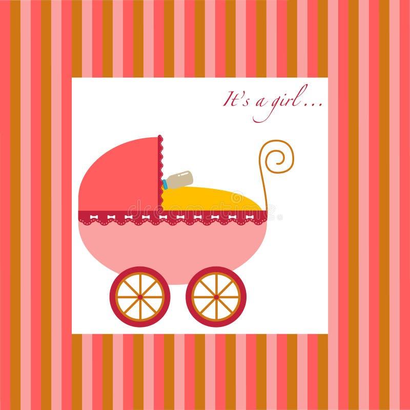 девушка детской дорожной коляски бесплатная иллюстрация