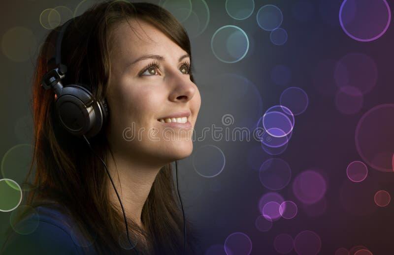 девушка диско диск-жокея стоковое изображение