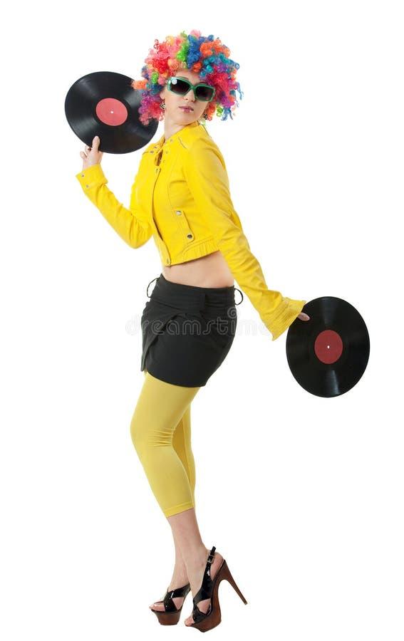 девушка диско стоковые изображения rf