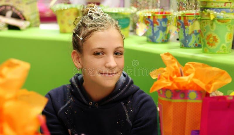 девушка дня рождения стоковая фотография