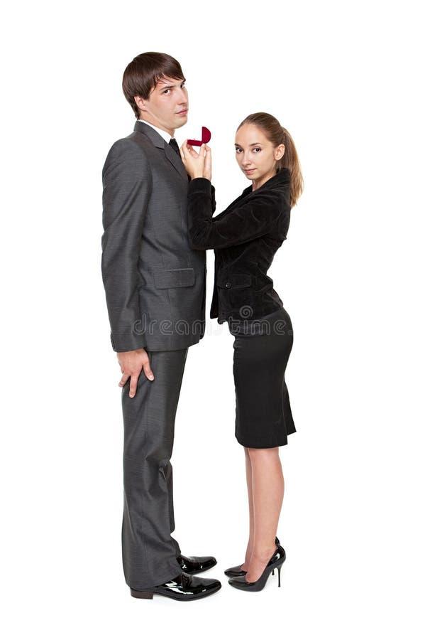 девушка женится сильная хочет стоковые фото