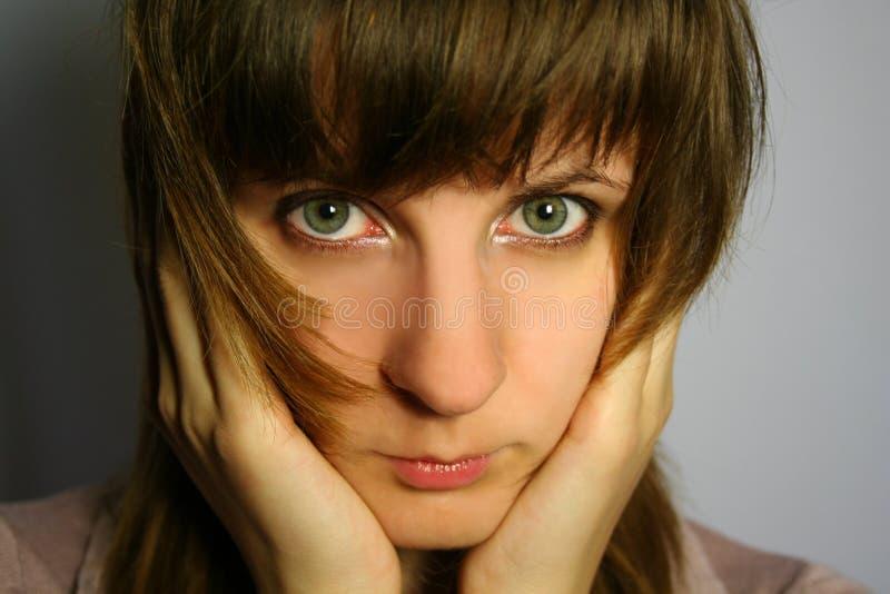 девушка застенчивая стоковое фото rf