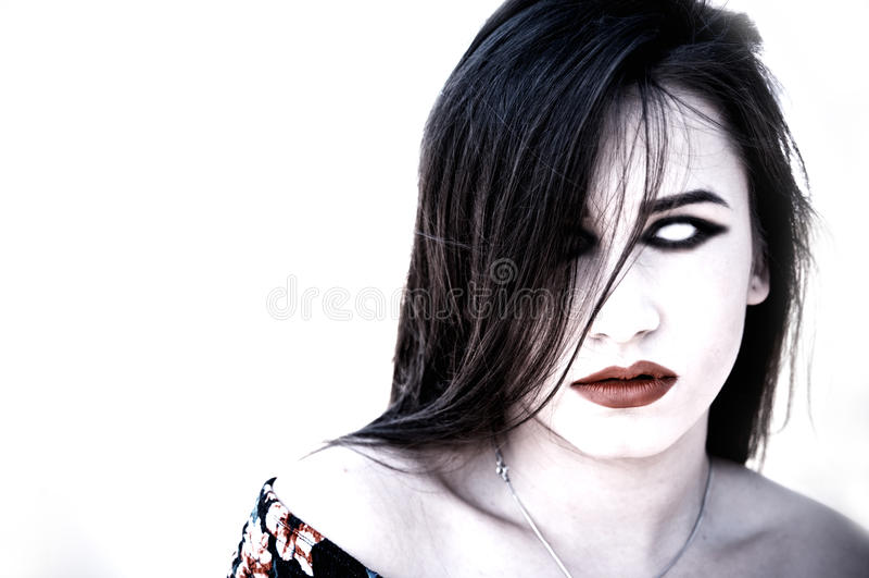 Девушка зомби стоковая фотография rf