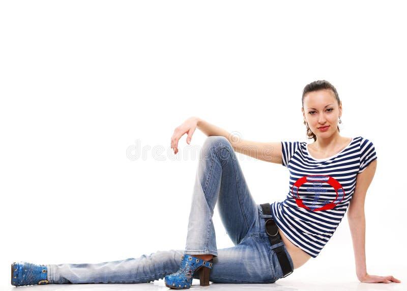девушка имеет остальные стоковая фотография