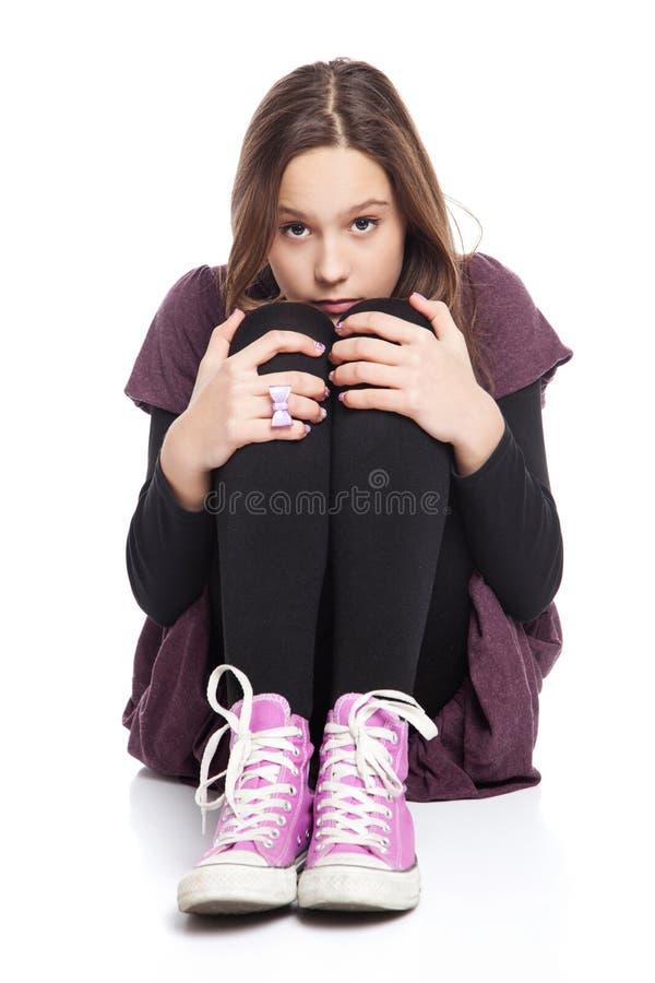 Девушка испуганная стоковое фото