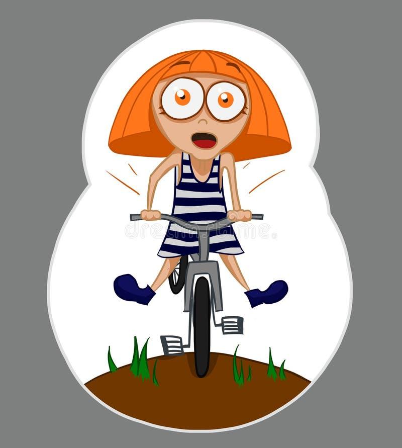Девушка и велосипед стоковые фотографии rf