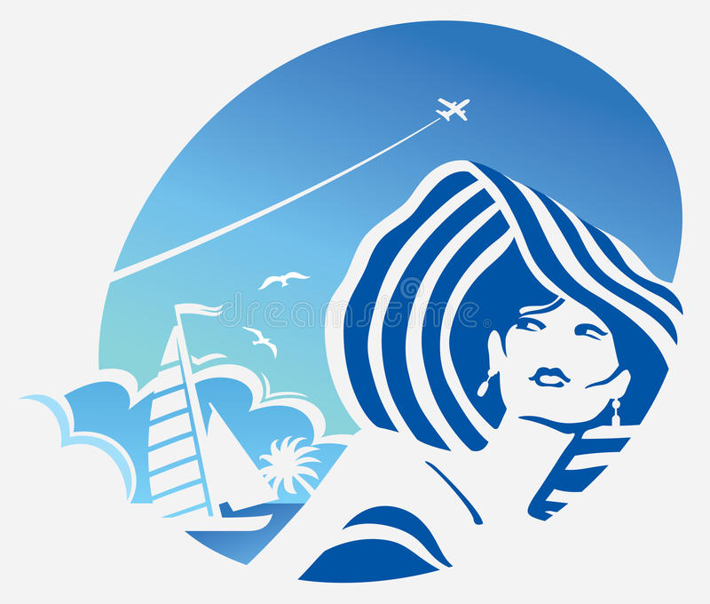 Девушка и море бесплатная иллюстрация