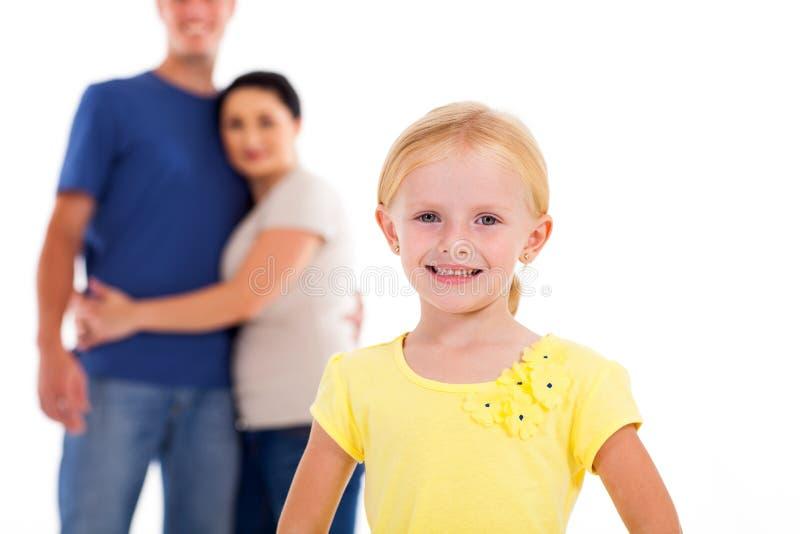 Девушка и родители стоковая фотография