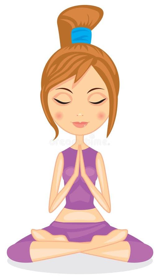 Девушка йоги бесплатная иллюстрация