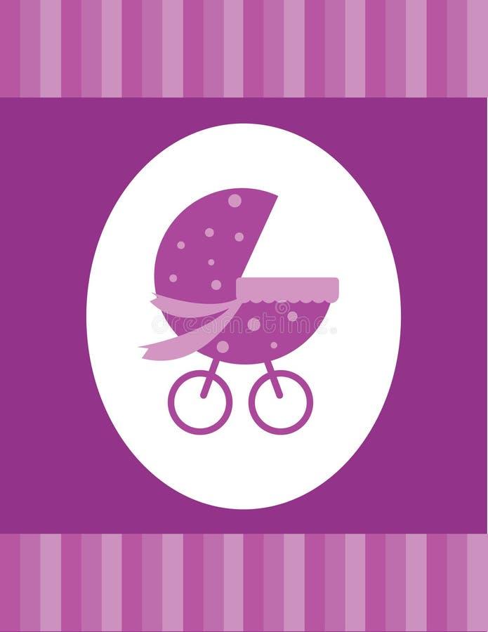 девушка карточки младенца бесплатная иллюстрация
