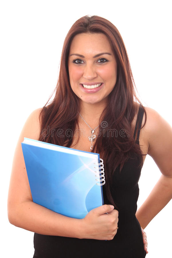 девушка книги счастливая стоковые изображения rf