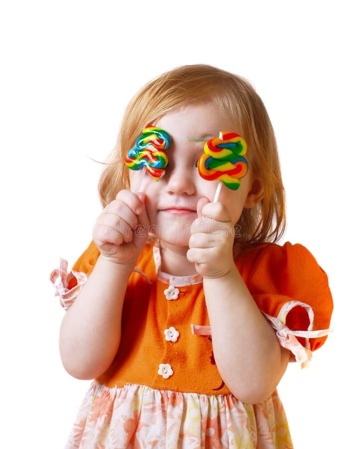 девушка конфеты стоковое фото rf