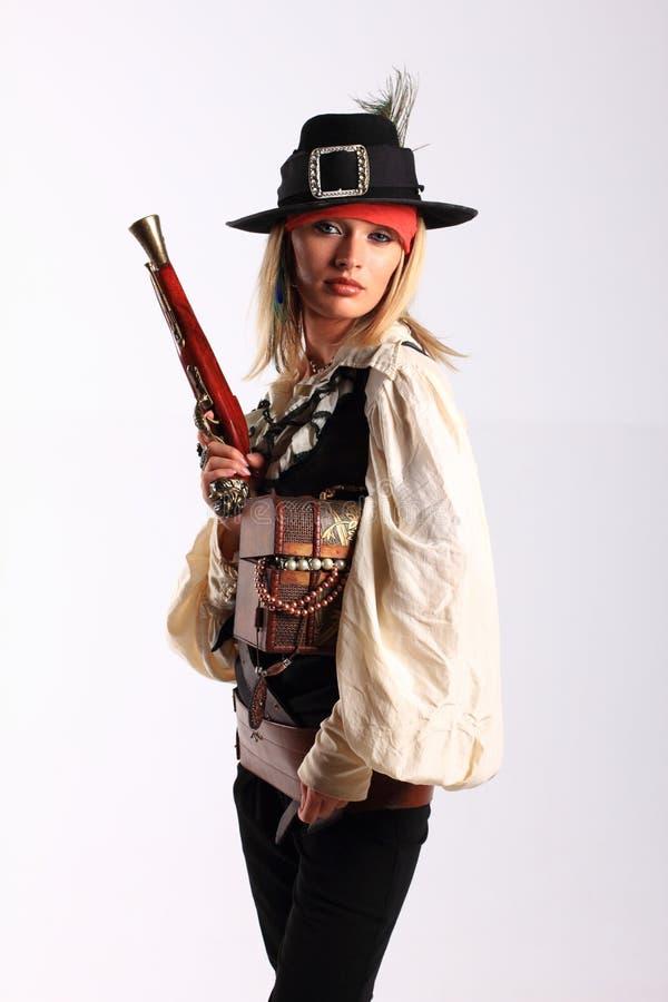 девушка корсара стоковая фотография rf