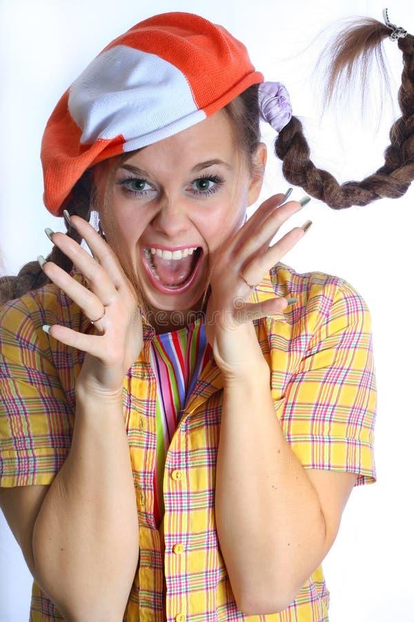 девушка красотки плача стоковое изображение rf