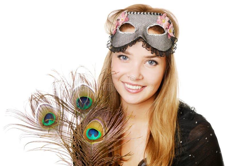 Download Девушка красоты с маской стоковое фото. изображение насчитывающей европейско - 33731054
