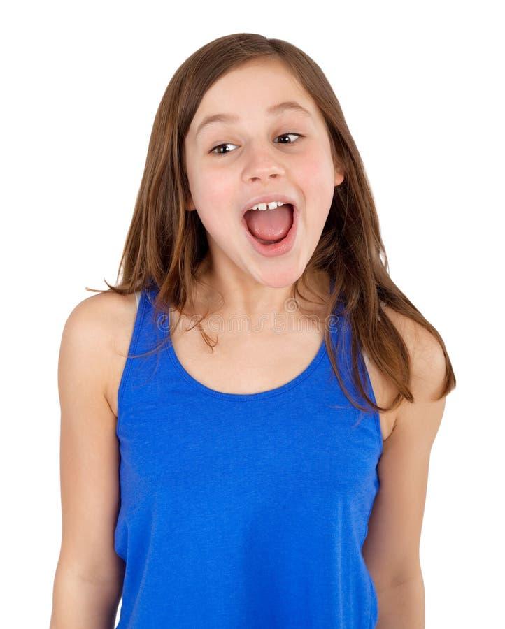 Девушка кричащая стоковое изображение rf