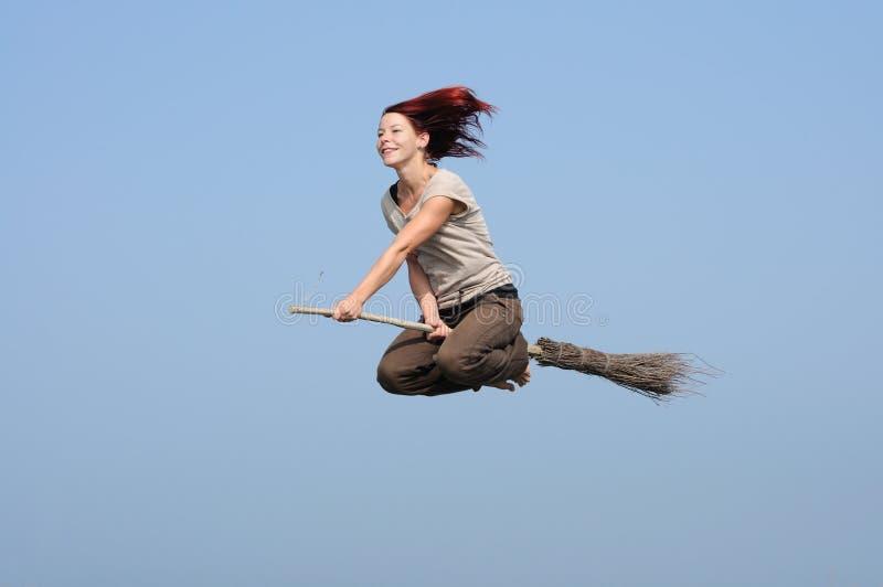 девушка летания стоковые изображения