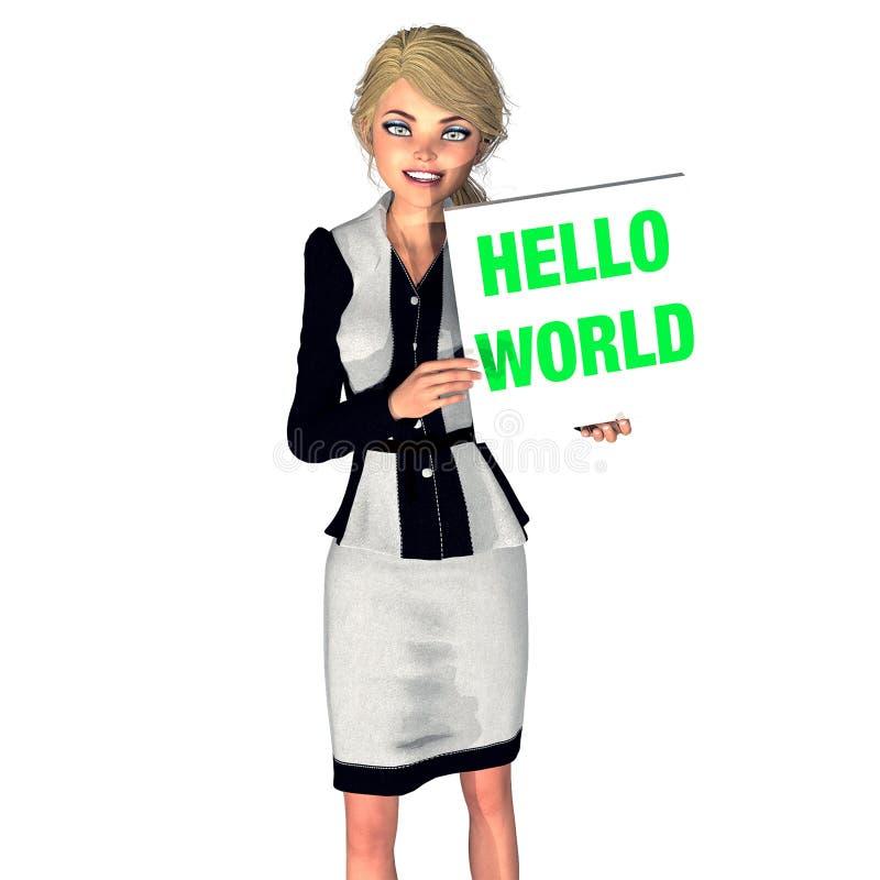 Девушка маркетинга стоковое фото