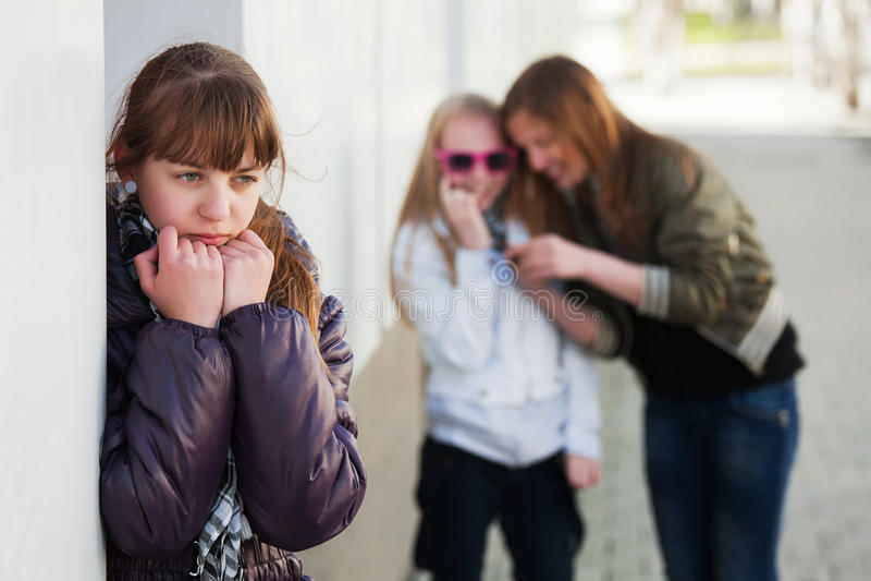 девушка нажатия подростковая стоковая фотография