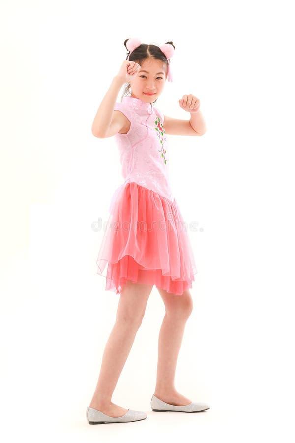 Девушка на белой предпосылке стоковые фото